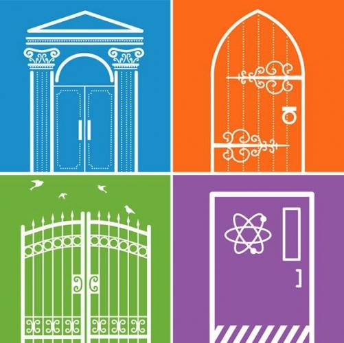 (Graphique) Portes historiques, porte, porte de laboratoire