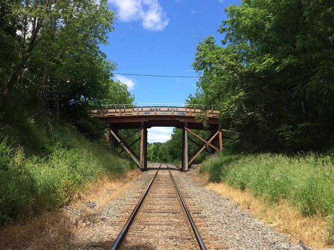 Jordan Harbour train bridge