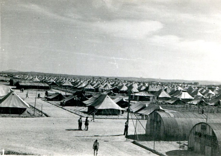 Scene from a displaced persons camp