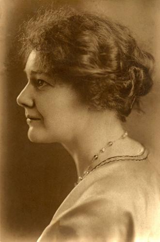 Doris McCarthy working in her garden at Fool's Paradise