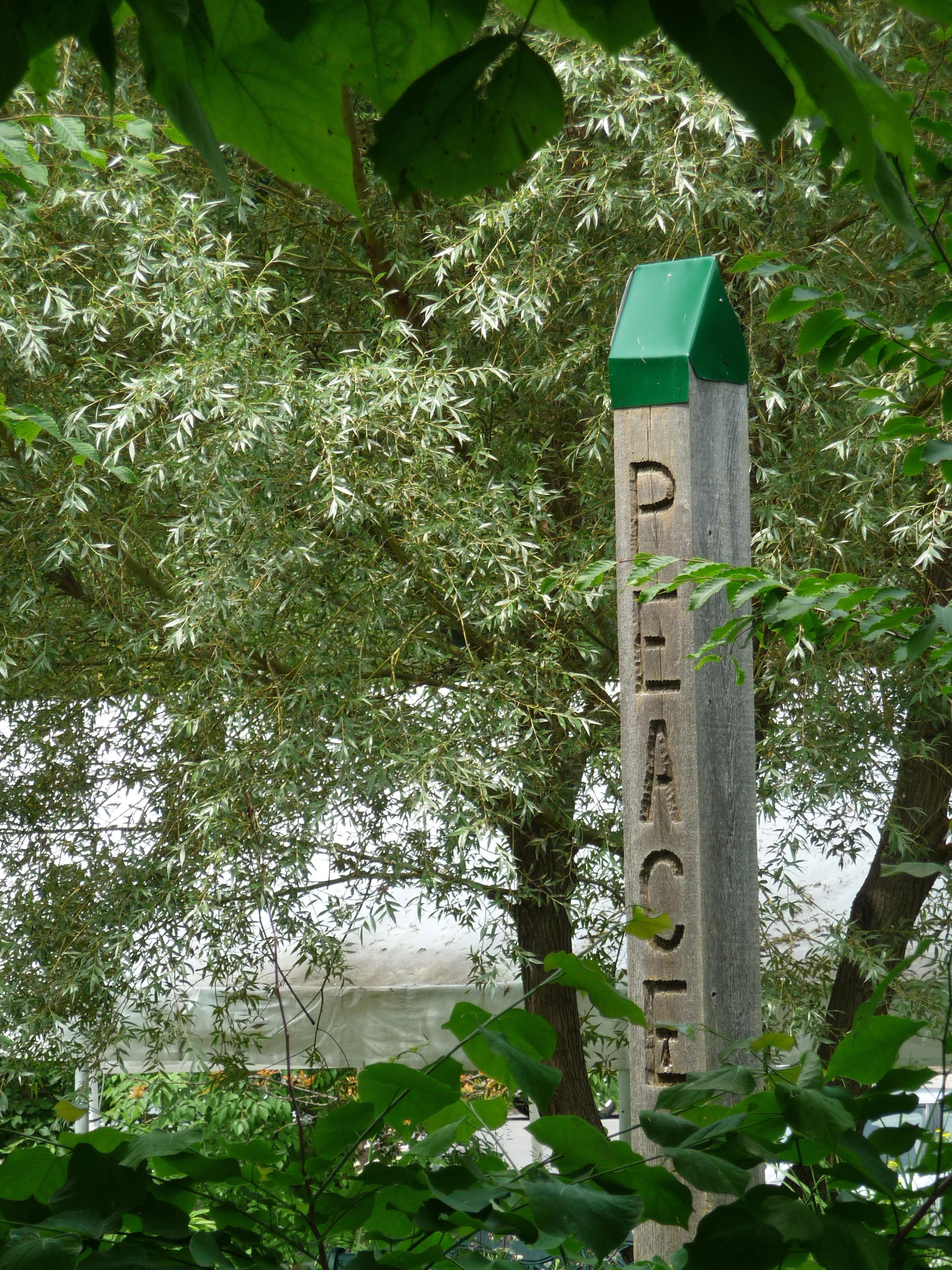 Peace pole, First Unitarian Congregation of Ottawa