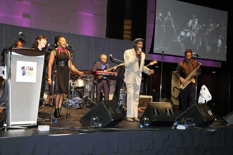 Jay Douglas and his band