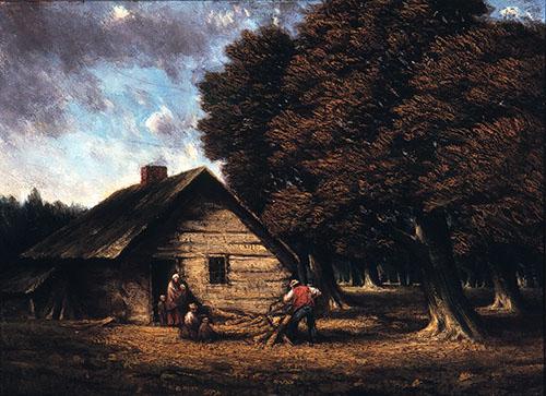 The Pioneer Cabin (La cabane de pionniers), tableau peint par Homer Watson, 1900