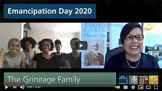 Emancipation Day 2020 video: The Grineage Family