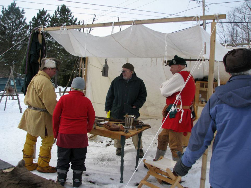 Fur traders camp re-enactment