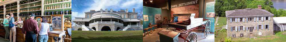 Canada's Historic Places Day: Niagara Apothecary, Fulford Place, Uncle Tom's Cabin Historic Site and Macdonell-Williamson House