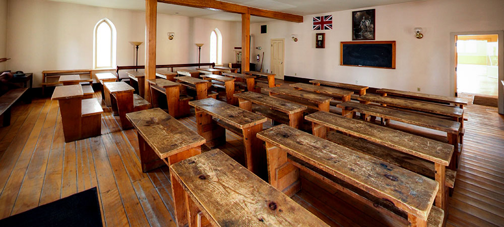 Enoch Turner Schoolhouse interior. Photo: Bofei Cao