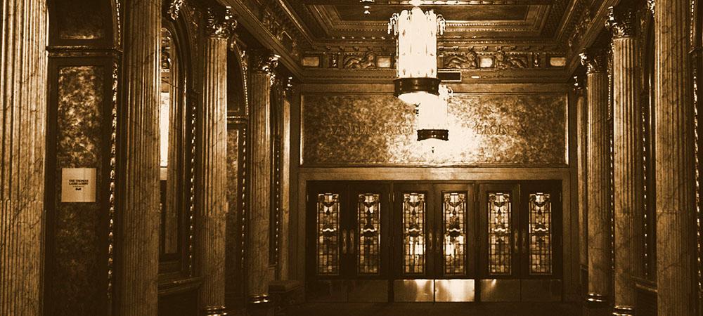 Foyer du Centre des salles de théâtre Elgin et Winter Garden